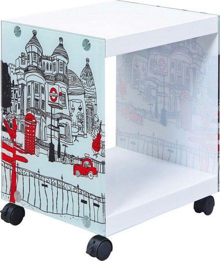INOSIGN Beistelltisch »Cube« mit gestalteten Glasseiten
