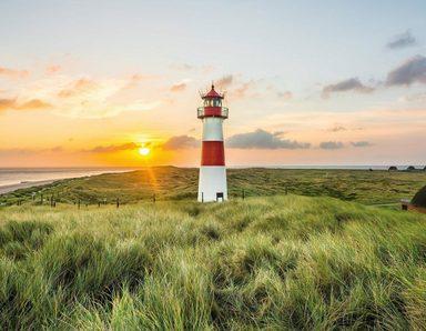 Fototapete »Leuchtturm Sylt«, matt, Leicht zu verarbeiten