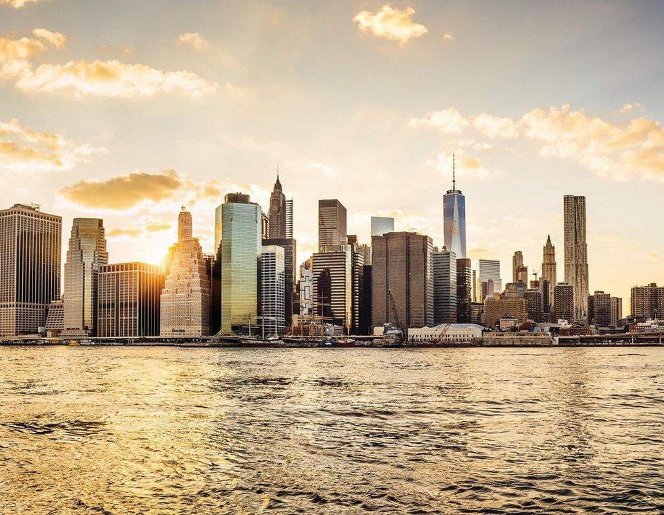 fototapete living walls new york city manhattan skyline vlies glatt online kaufen otto. Black Bedroom Furniture Sets. Home Design Ideas