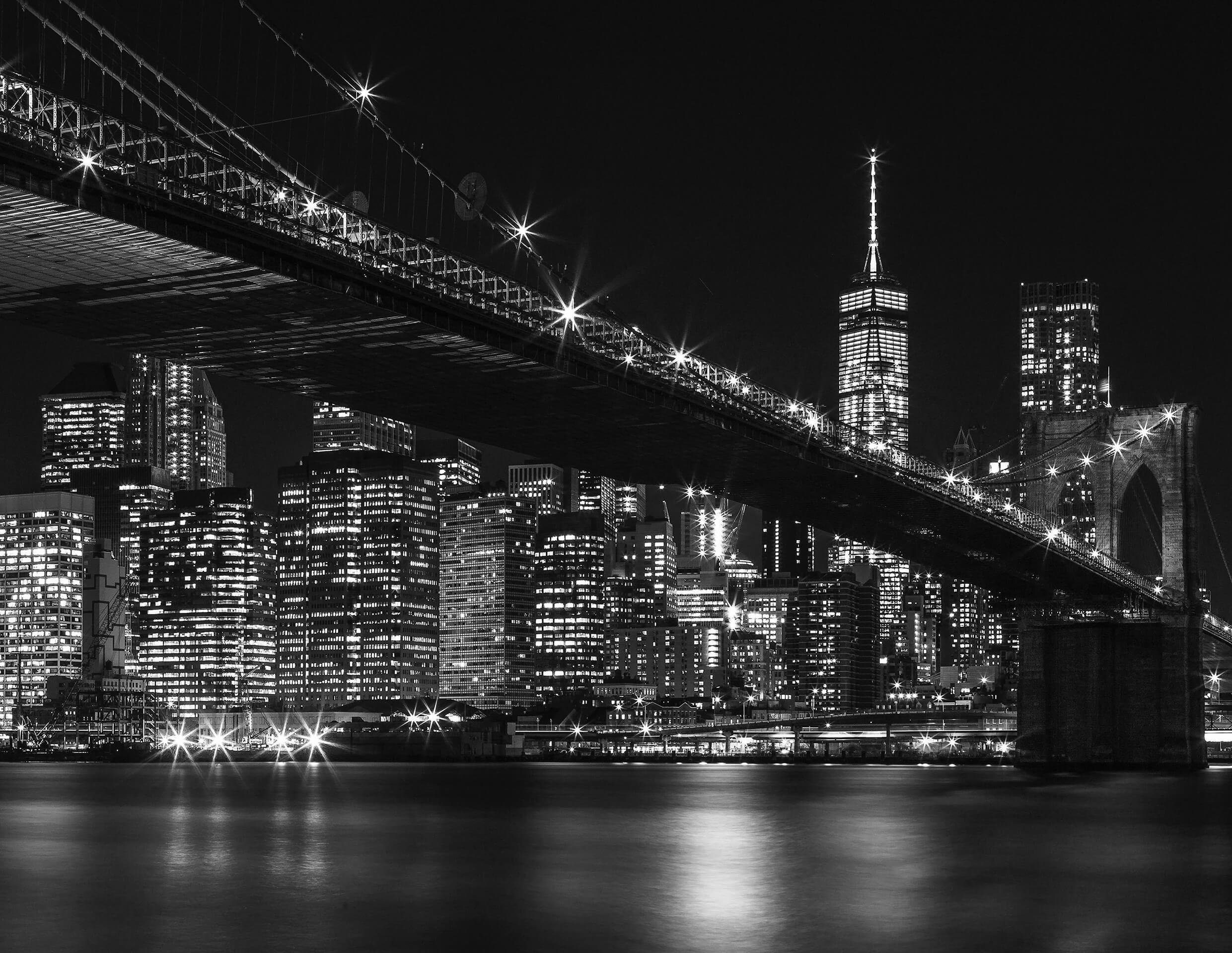 Fototapete, living walls, »Brooklyn Bridge«, Vlies glatt