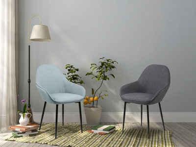 andas Esszimmerstuhl »Carla« (Set, 2 Stück), in zwei unterschiedlichen Bezugsqualitäten, mit Metallbeinen, Sitzhöhe 47 cm
