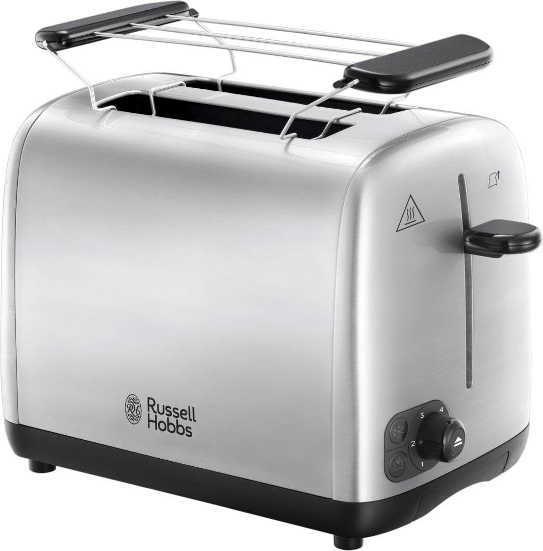 RUSSELL HOBBS Toaster Adventure 24080-56, für 2 Scheiben, 850 Watt, Edelstahl gebürstet, 2 kurze Schlitze, für 2 Scheiben, 850 W
