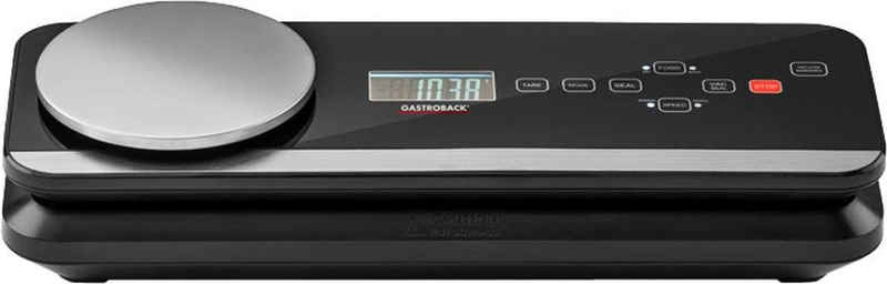 Gastroback Vakuumierer 46014 Advanced Scale Pro, 120W, ideal zum Sous-Vide-Garen