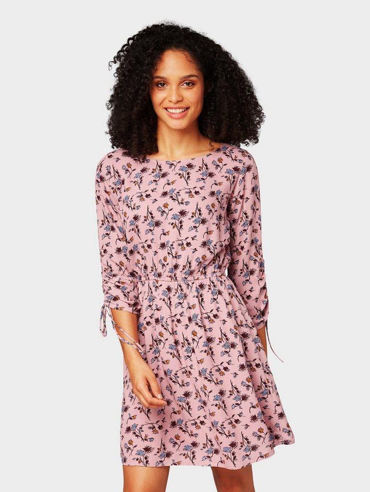 tom tailor denim blusenkleid »kleid mit blumenmuster