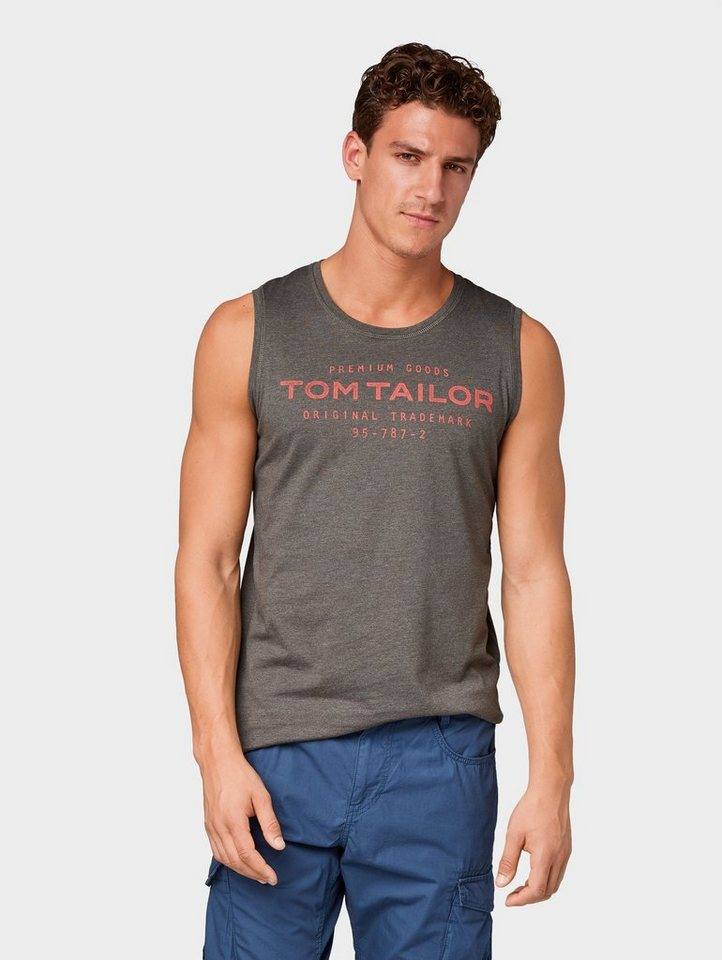 TOM TAILOR Tanktop »Tanktop mit Logo-Print«