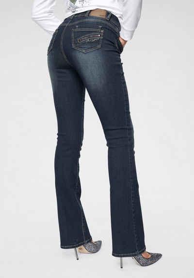 Arizona Bootcut-Jeans »mit Zippertasche« High Waist