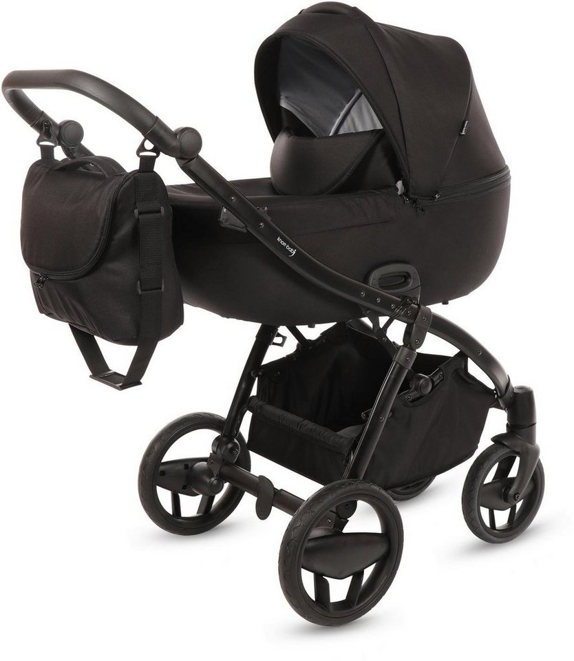 knorr baby kombi kinderwagen set piquetto schwarz. Black Bedroom Furniture Sets. Home Design Ideas