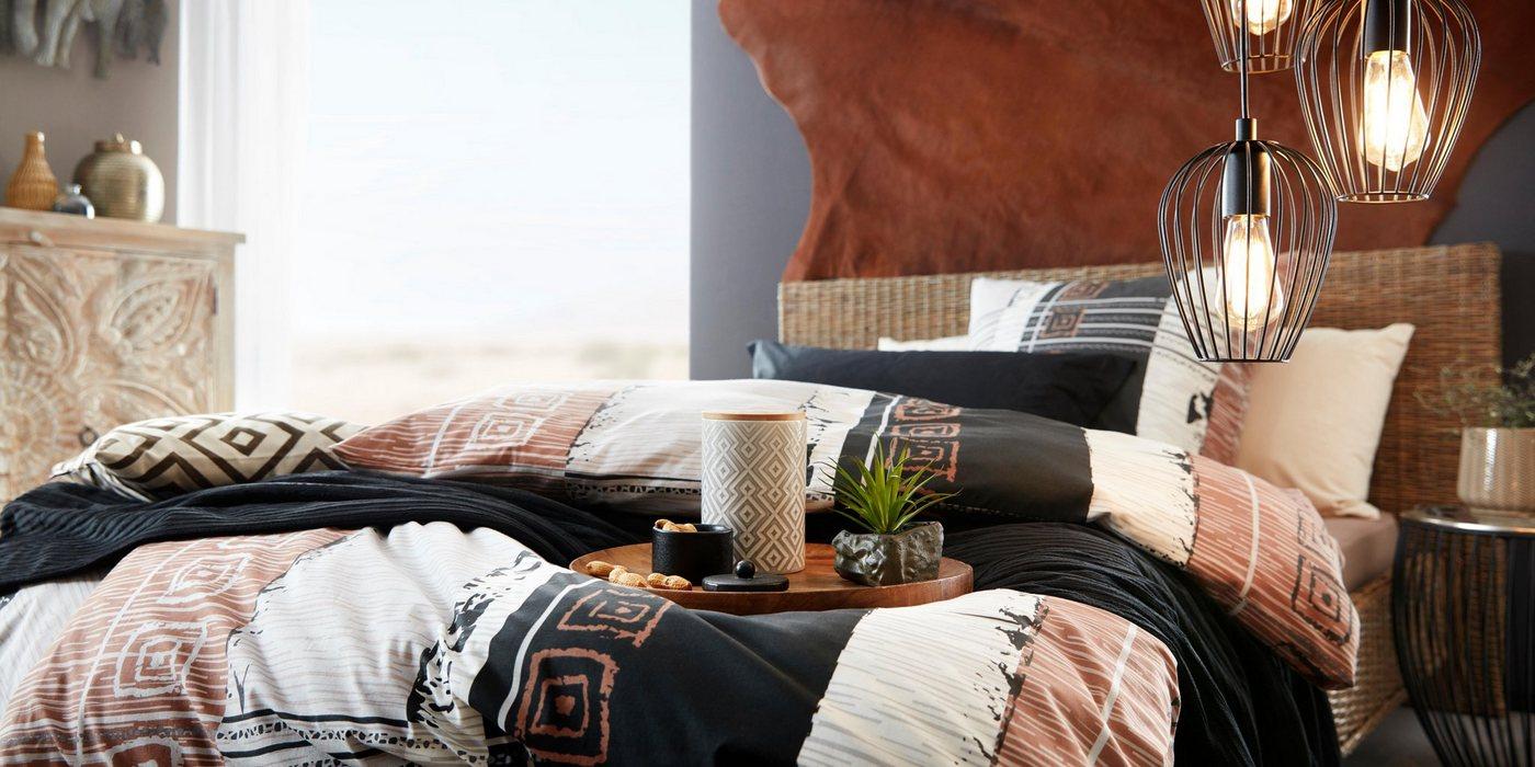 Home affaire »Rattanbett«, aus handgeflochtenem Rattan, mit einem Kopfteil von 90 cm, Höhe | Schlafzimmer > Betten > Rattanbetten | Home affaire