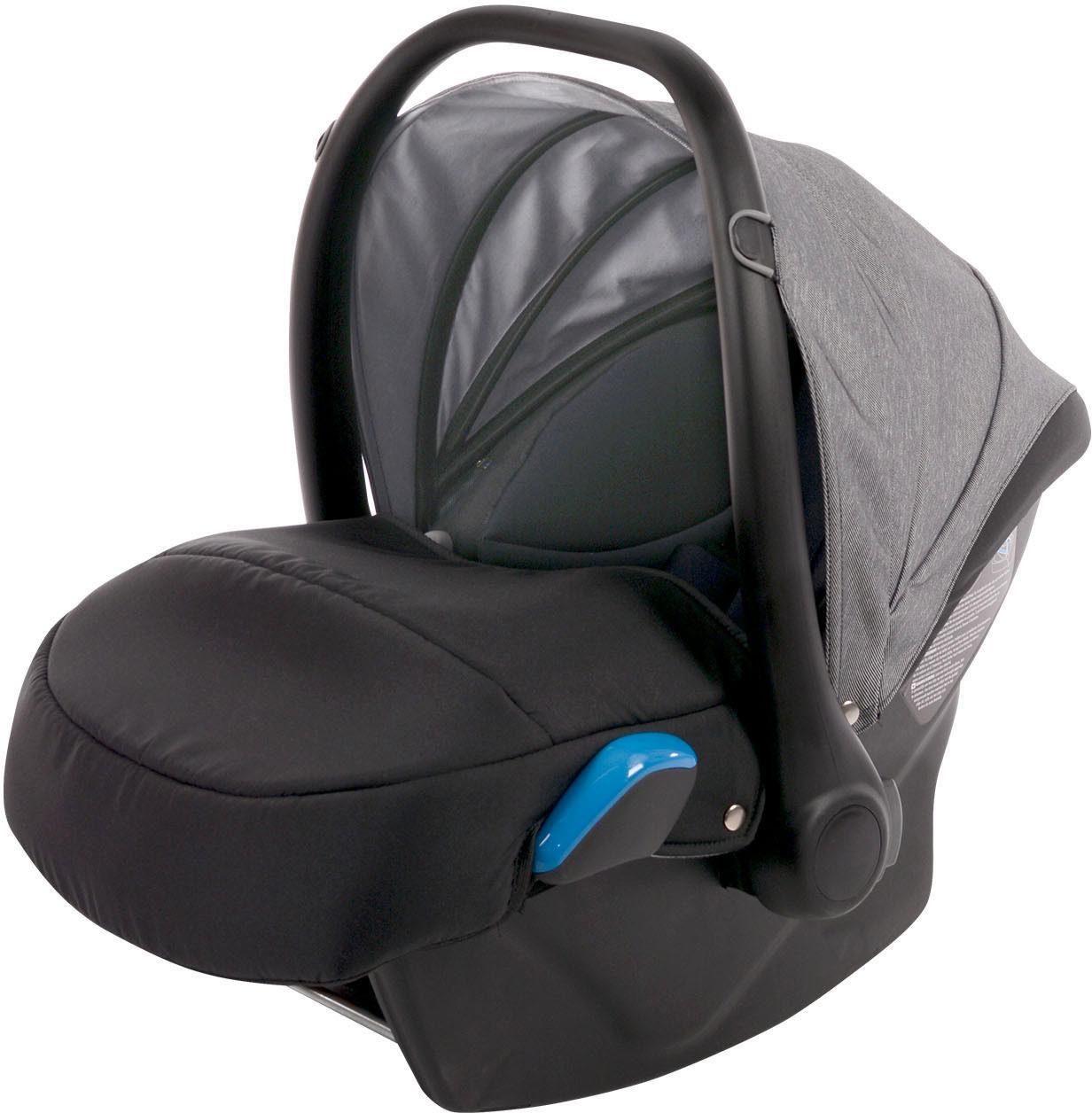 knorr-baby Babyschale, 0 - 13 kg, »Milan Voletto Carbon, schwarz-grau«