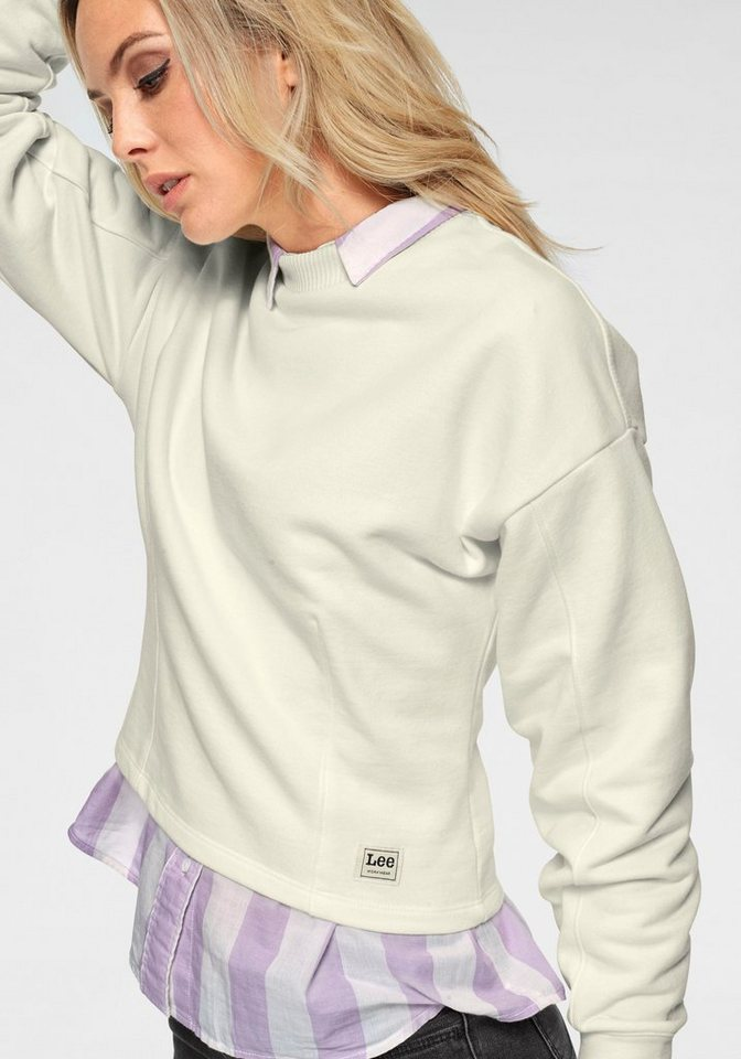 Lee® Sweatshirt im Crop-Look