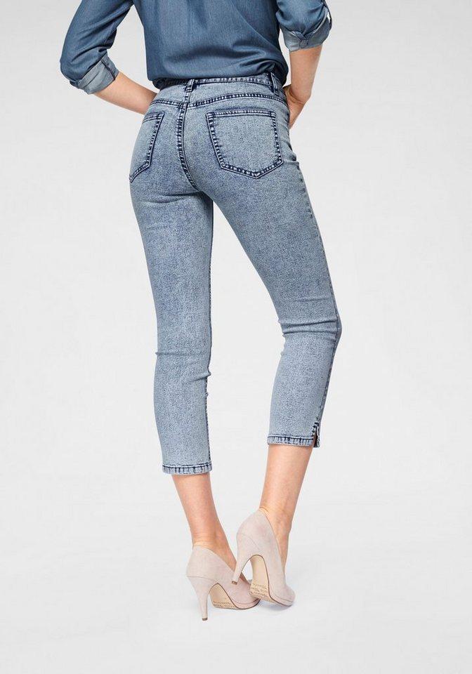 Arizona 7/8-Jeans »mit Schlitz am Saum« High Waist | Bekleidung > Jeans > 7/8-Jeans | Blau | Arizona