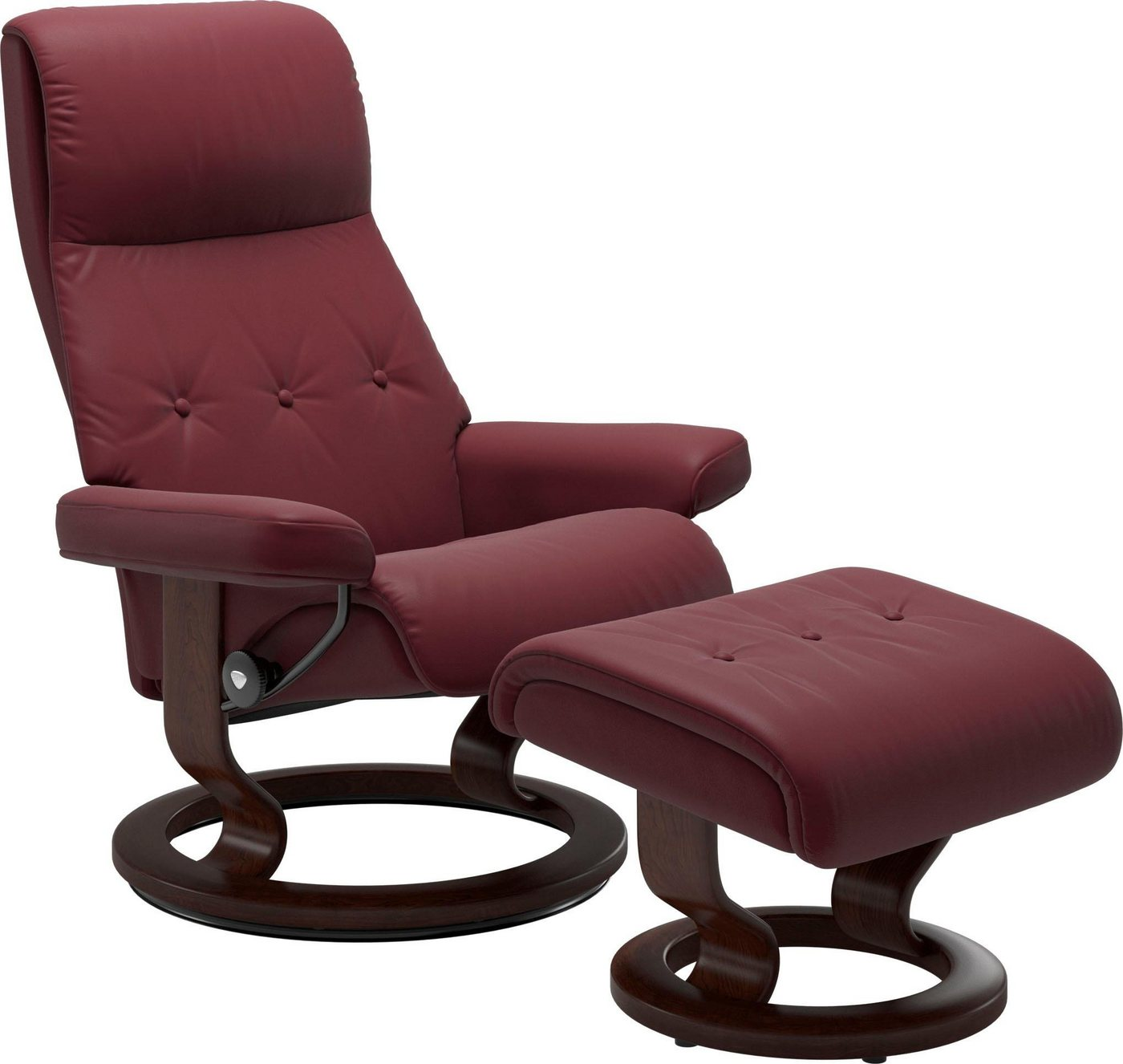 Stressless® Set: Relaxsessel mit Hocker »Sky« Classic Base, Größe L, Gestell braun