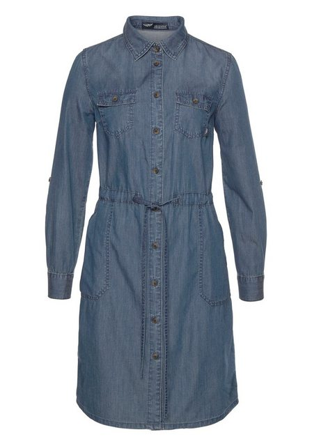 Arizona Jeanskleid »Krempelärmel mit Riegel«   Bekleidung > Kleider > Jeanskleider   Arizona