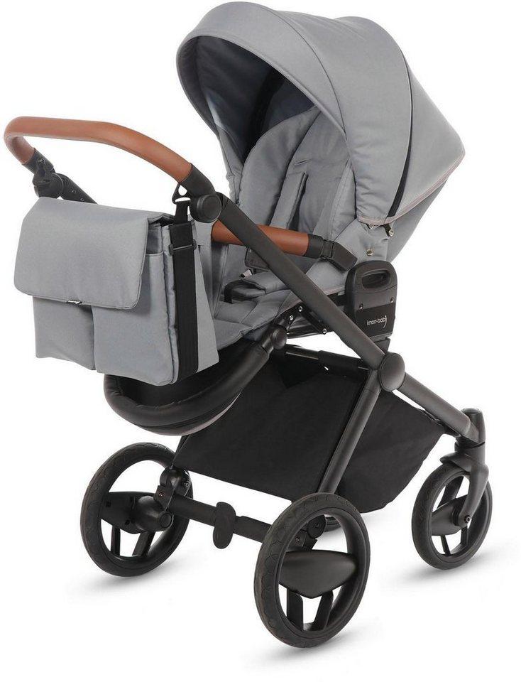 knorr baby kombi kinderwagen set life black line steingrau online kaufen otto. Black Bedroom Furniture Sets. Home Design Ideas