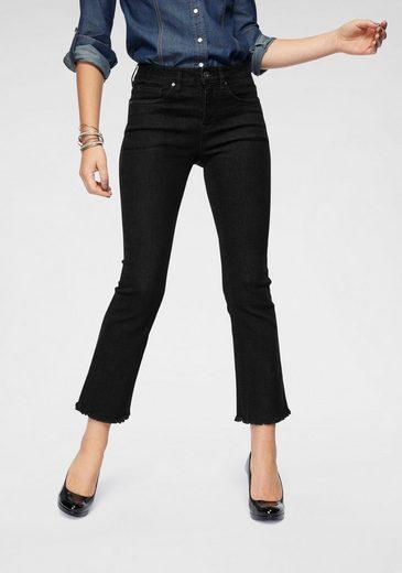 Arizona 7/8-Jeans »ausgefranster Saum« High Waist