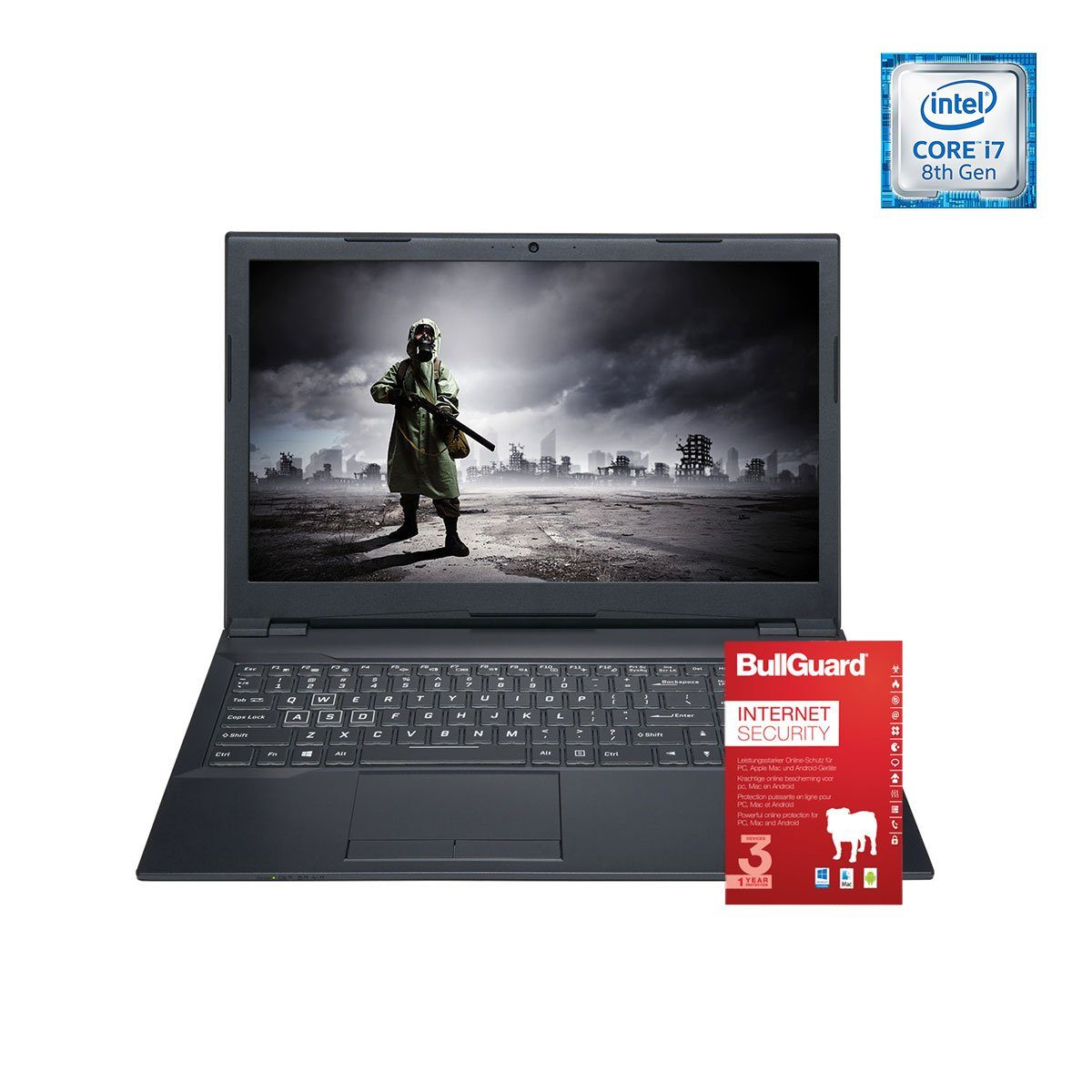 ONE GAMING Notebook, Core i7-8700, GeForce MX150, 8GB DDR4 RAM »NB 44746«