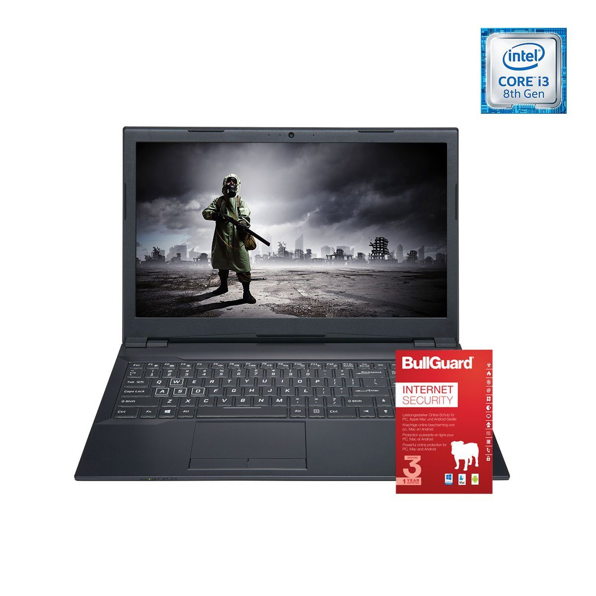 ONE GAMING Notebook, Core i3-8350K, GeForce MX150, 8GB DDR4 RAM »NB 44739«