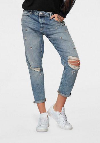 Damen,Kinder,Jungen Only Boyfriend-Jeans TONNI mit Destroyed Effekt blau | 05713743640864