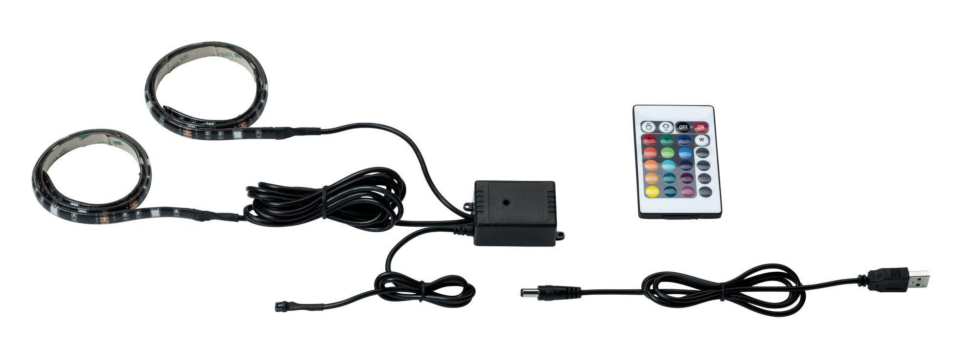 Paulmann LED Deckenleuchte, Function USB-Strip 2x50cm RGB 2,5W, 5V