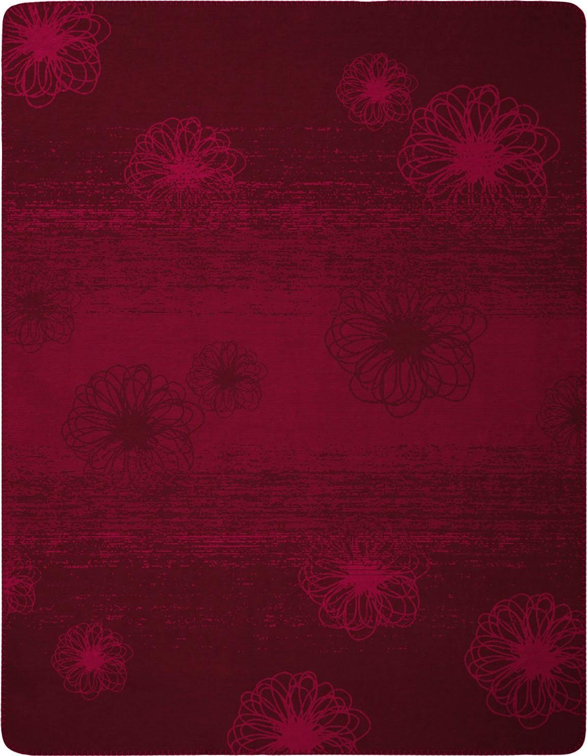Wohndecke »Flower Shades«, BIEDERLACK, mit blumenartigem Muster