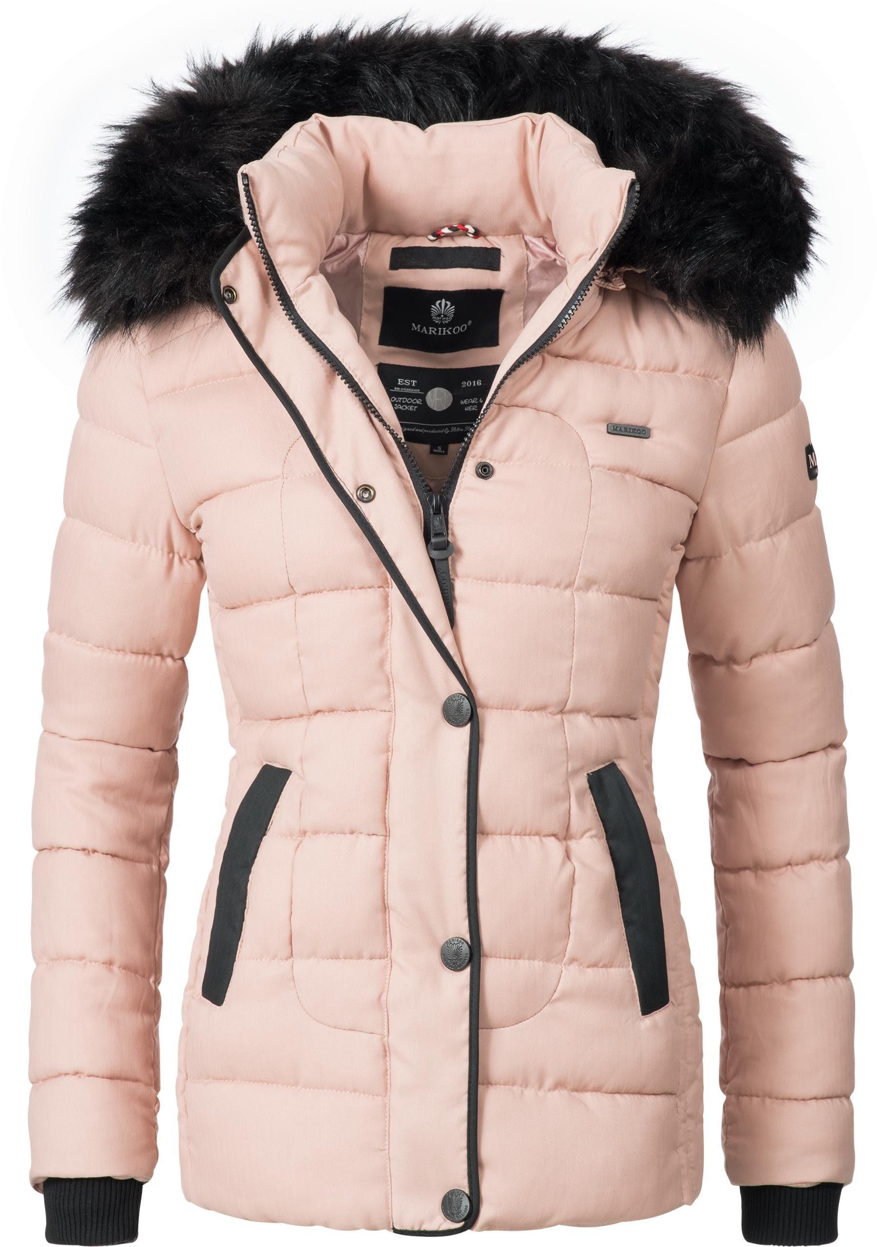 Marikoo Steppjacke »Unique« modische Winterjacke mit Kunstpelz Kapuze online kaufen | OTTO