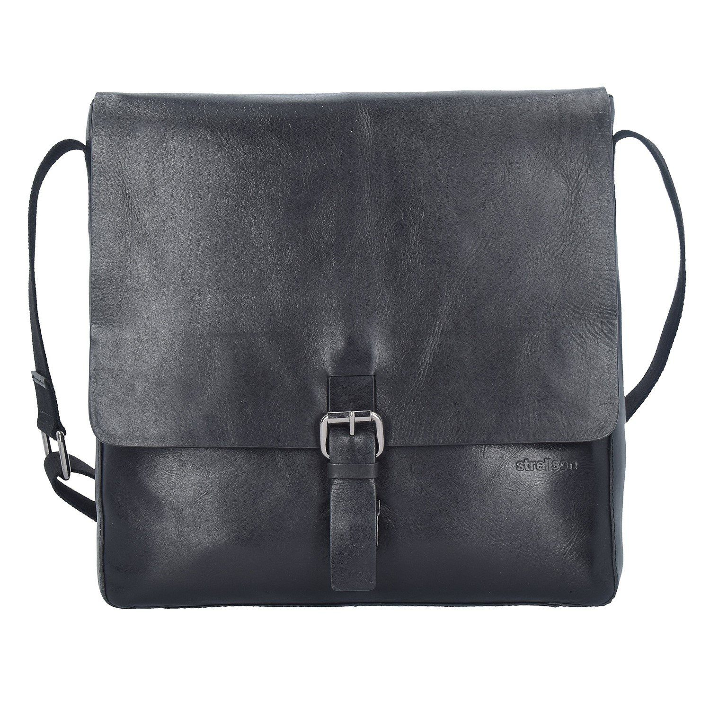 Strellson Scott Messenger Tasche Leder 30 cm Laptopfach