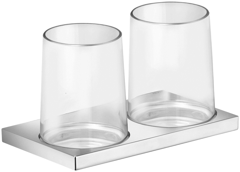 KEUCO Doppelglashalter »Edition 11«, mit zwei Echtkristall-Gläsern, verchromt