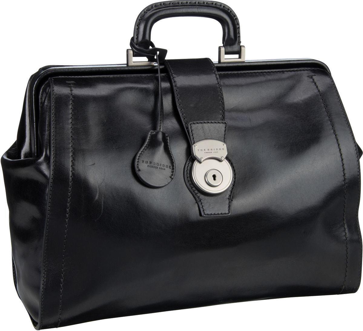 THE BRIDGE Handtasche »Capalbio Arzttasche 2058« | Taschen > Business Taschen > Arzttaschen | Schwarz | Metall | THE BRIDGE