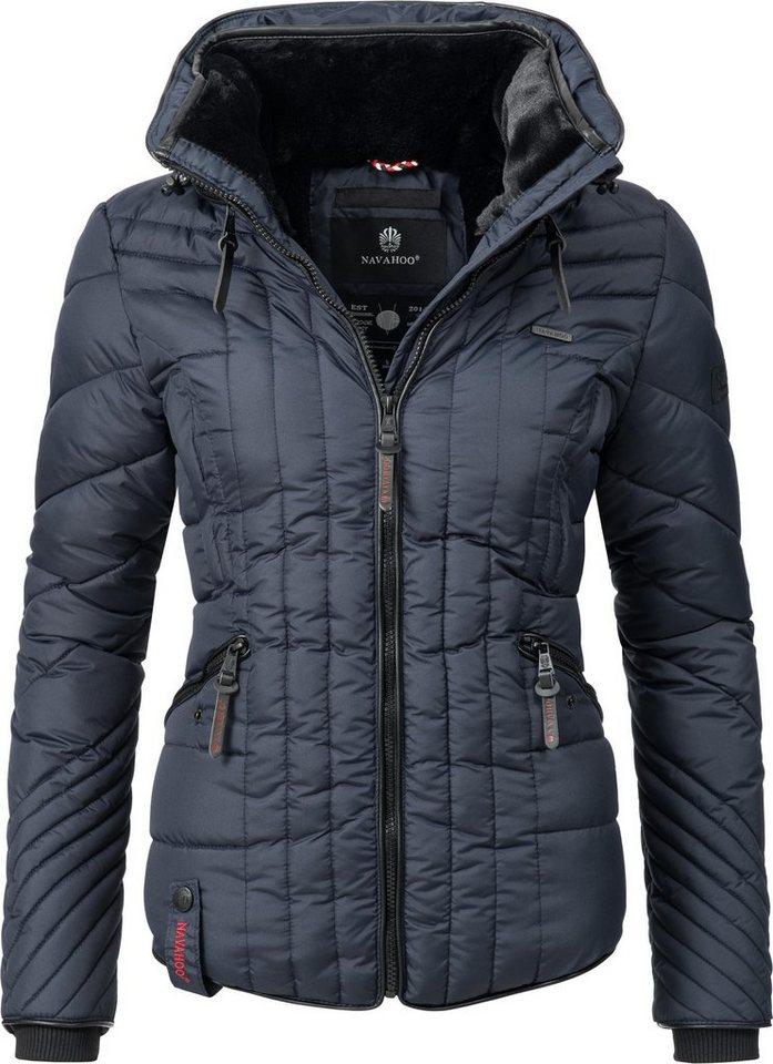 705ef7477d2699 Navahoo Steppjacke »Nimmersatt« modische Winter Jacke für Damen mit feiner  Steppung