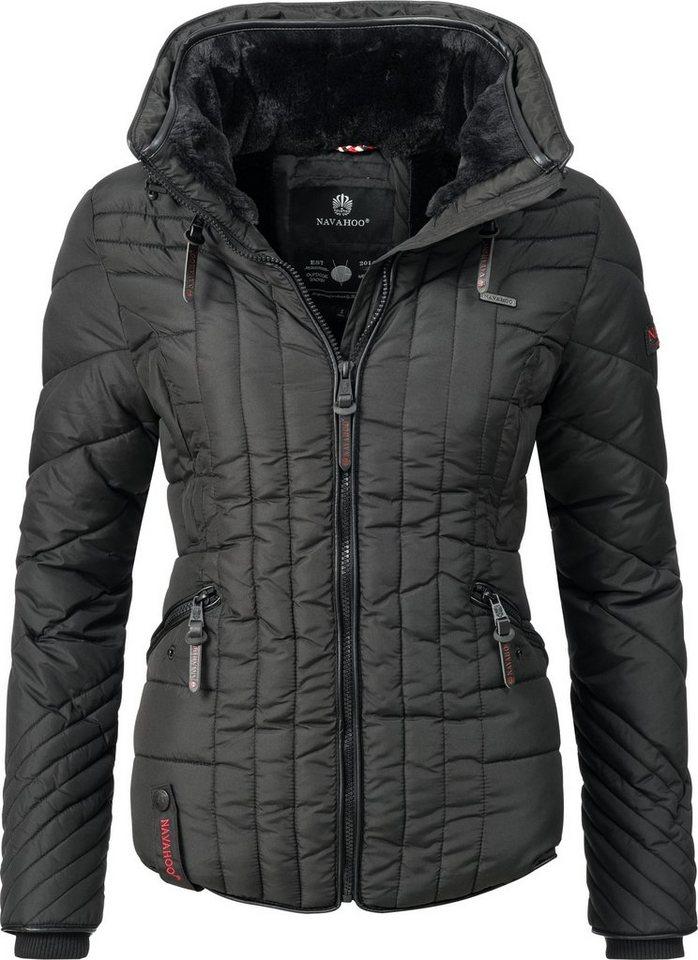 72114351142831 Navahoo Steppjacke »Nimmersatt« modische Winter Jacke für Damen mit ...