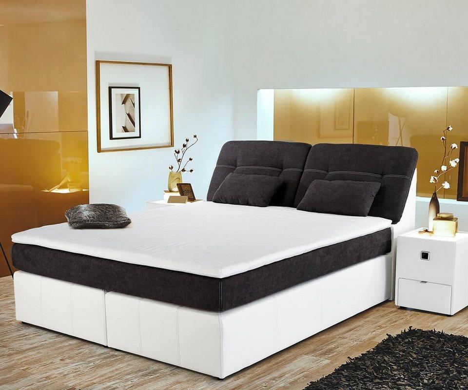 delife bett vaito weiss anthrazit 180x200 federkern online. Black Bedroom Furniture Sets. Home Design Ideas
