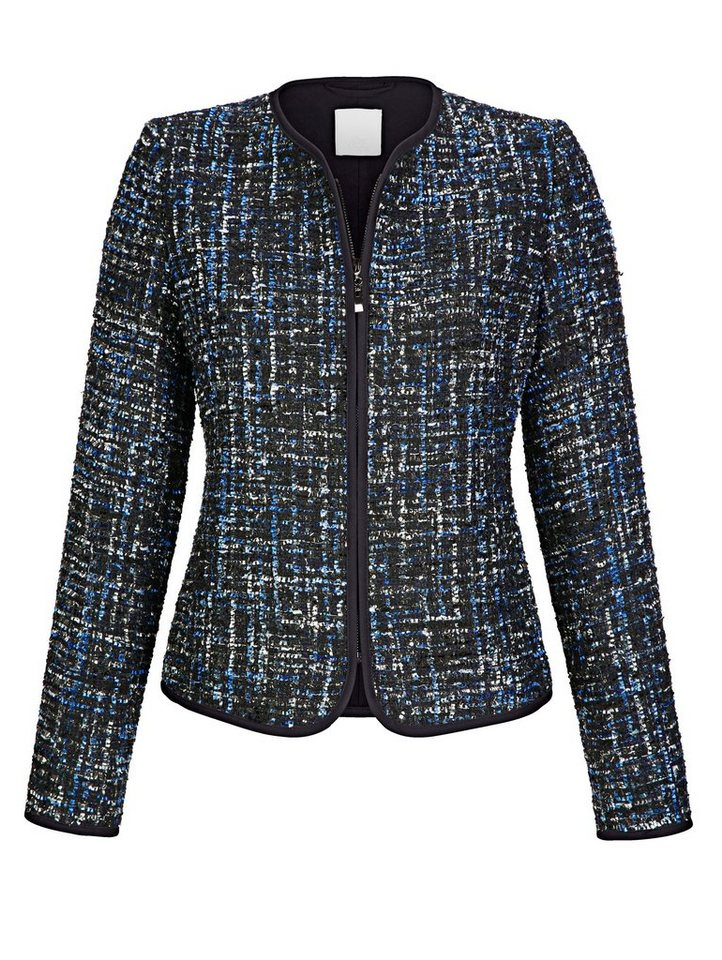Alba Moda Blazer mit tollem Bouclé-Material in modischer Farbgebung