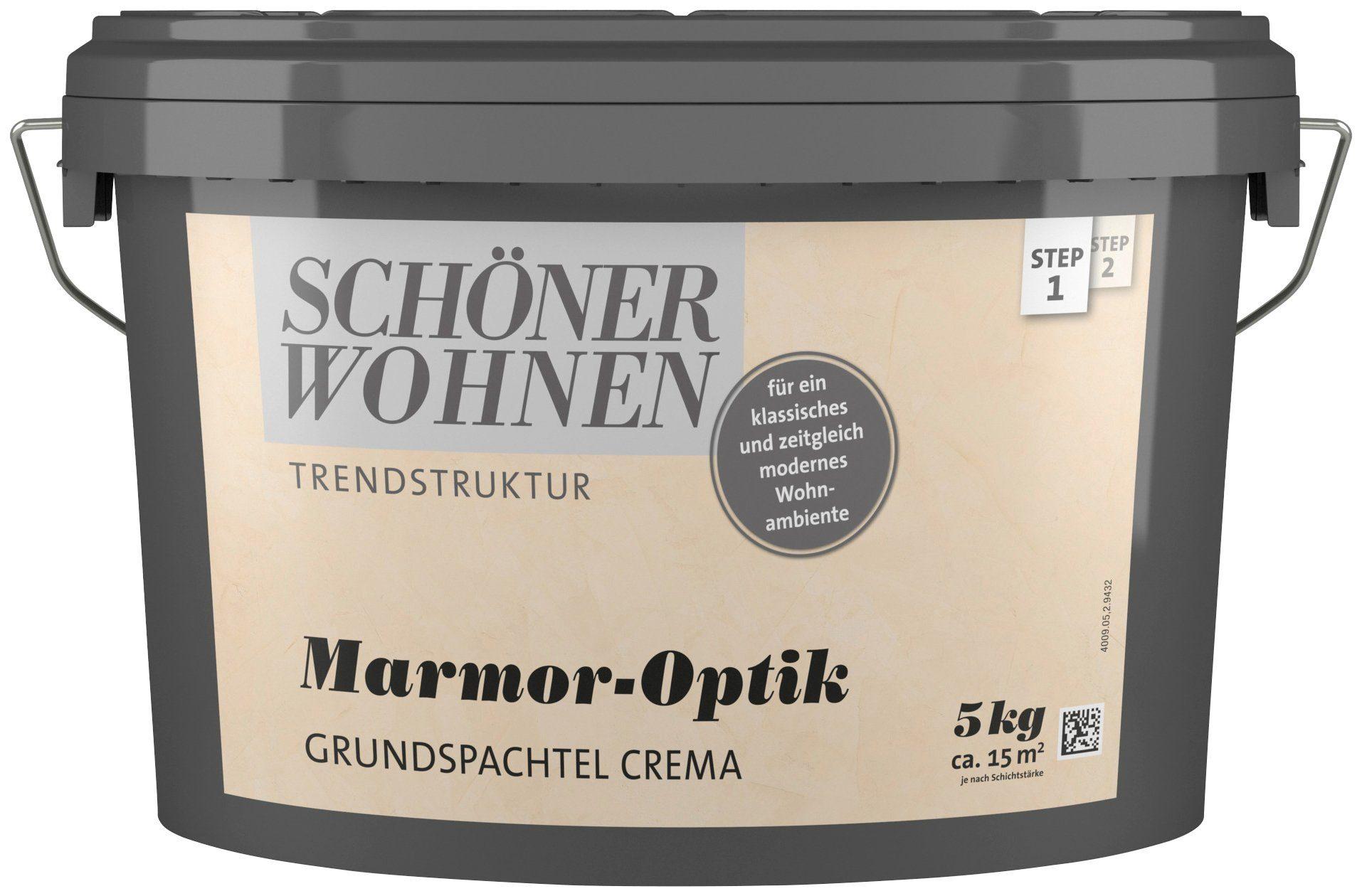 SCHÖNER WOHNEN FARBE Spachtelmasse »Marmoroptik Grundspachtel crema«, 5 kg