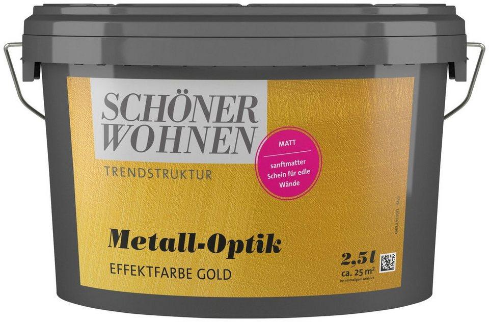 Schoner Wohnen Farbe Spezialfarbe Metall Optik Effektfarbe Gold 2