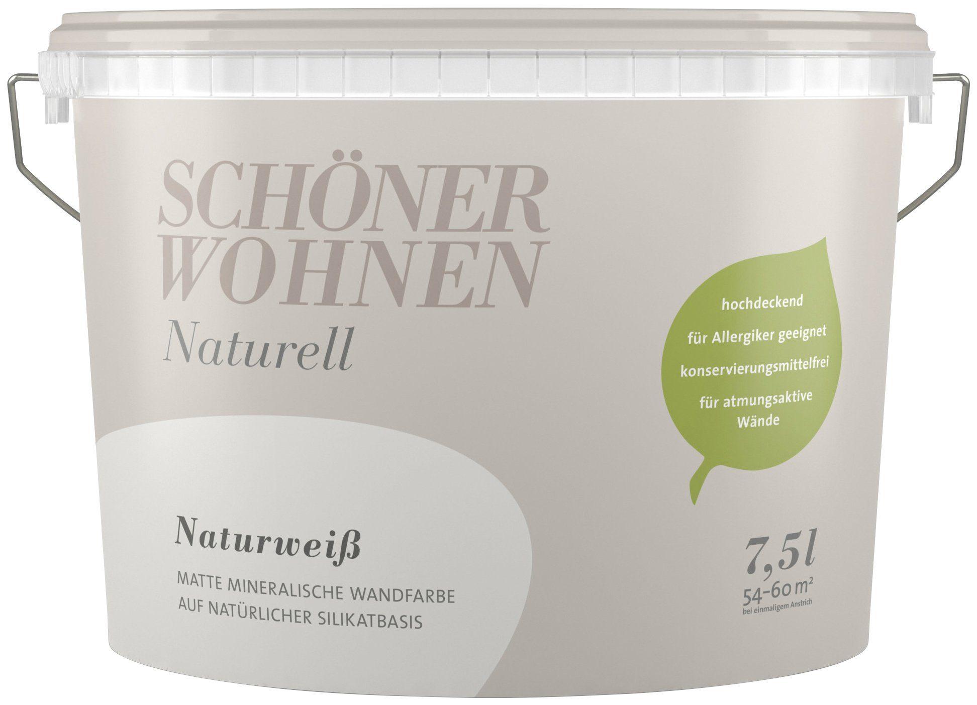SCHÖNER WOHNEN FARBE Wand- und Deckenfarbe »Naturell Naturweiß«, 7,5 l