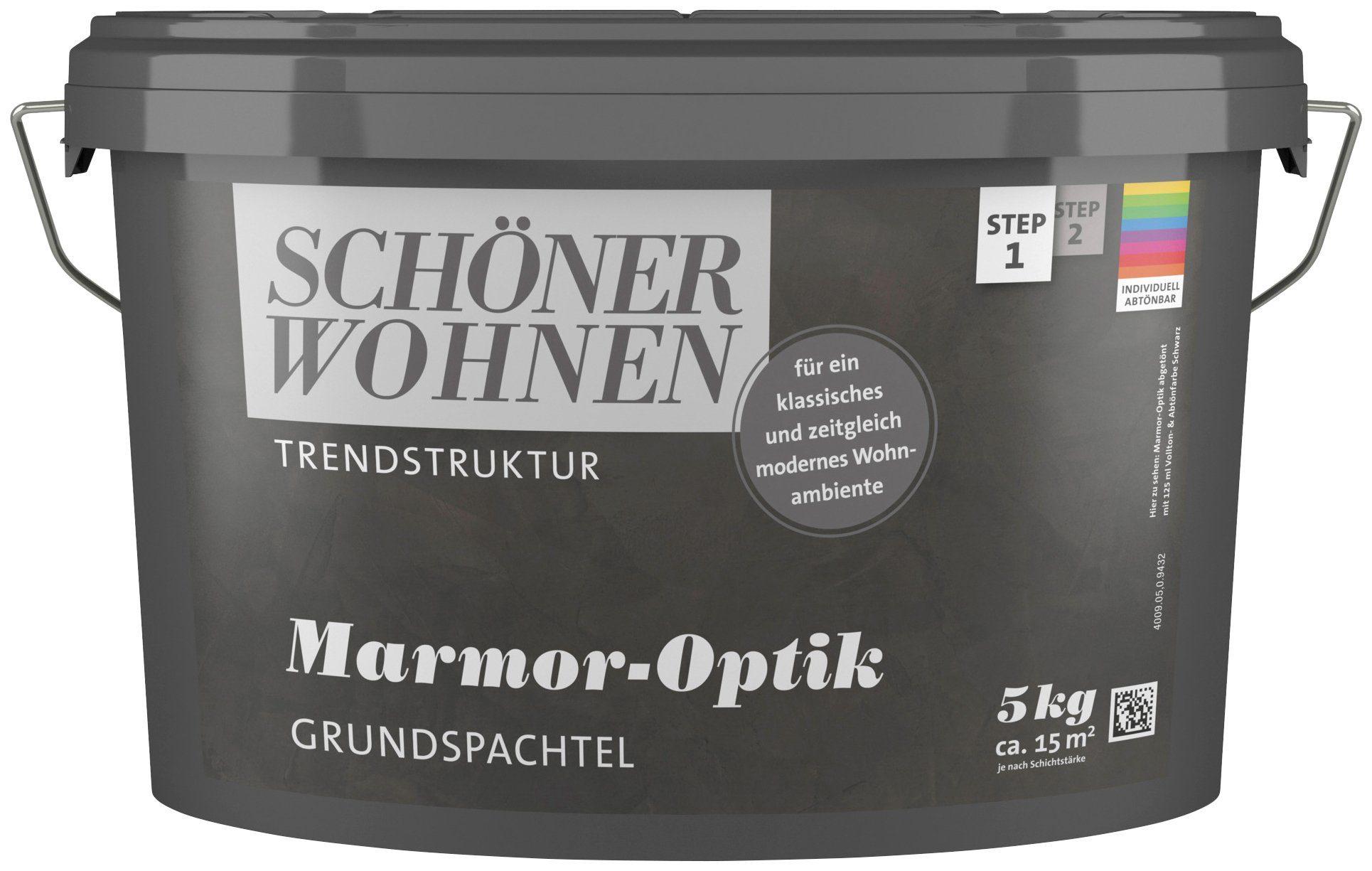 SCHÖNER WOHNEN FARBE Spachtelmasse »Marmor-Optik Grundspachtel «, 5 kg, abtönbar