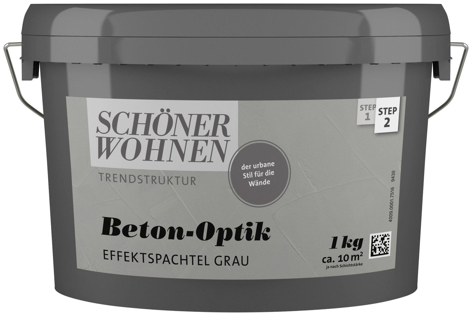 SCHÖNER WOHNEN FARBE Spachtelmasse »Betonoptik Effektspachtel grau«, 1 kg