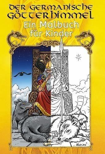 Broschiertes Buch »Der germanische Götterhimmel - Ein Ausmalbuch...«