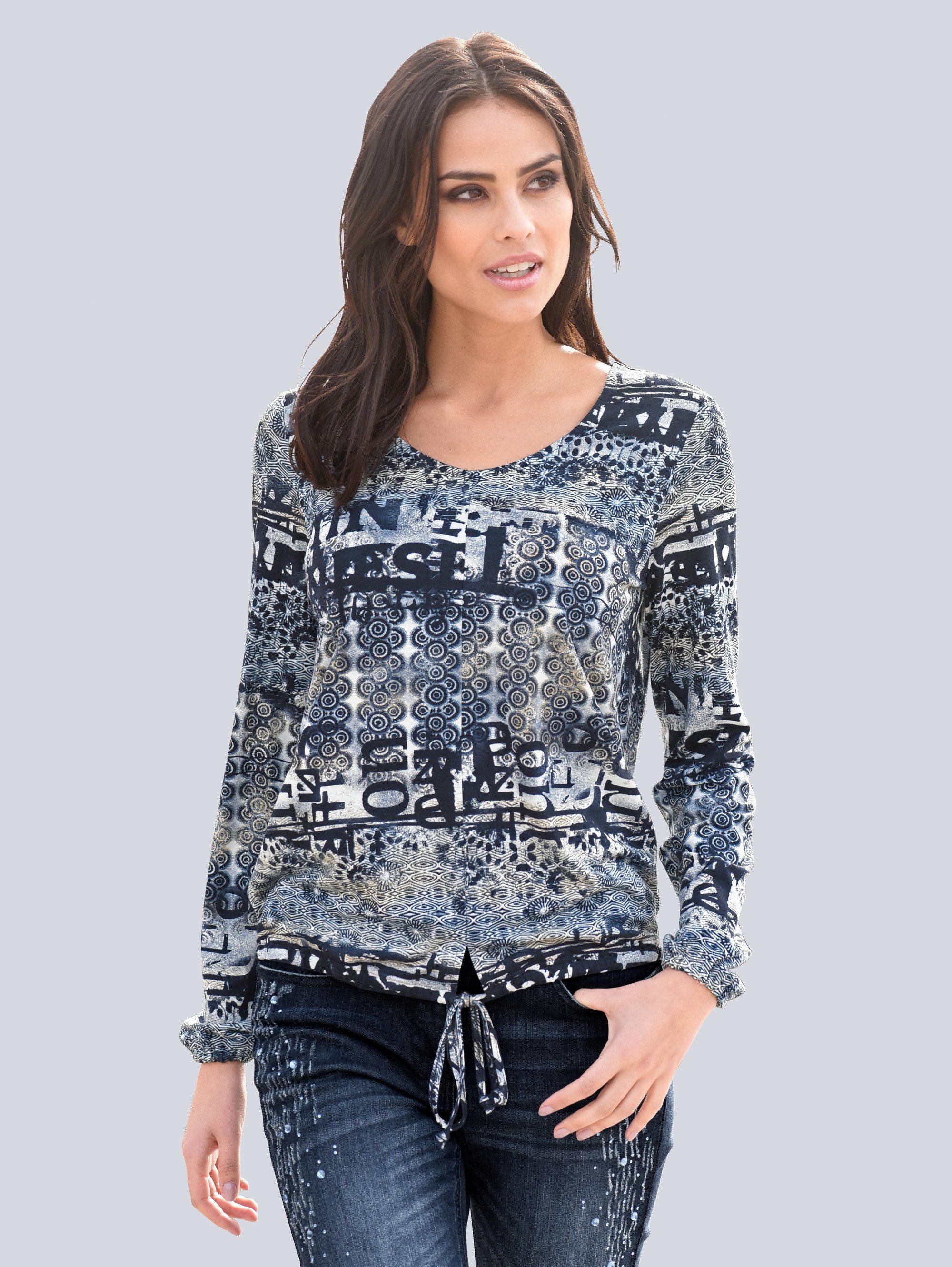 Alba Moda Shirt mit Printmix allover