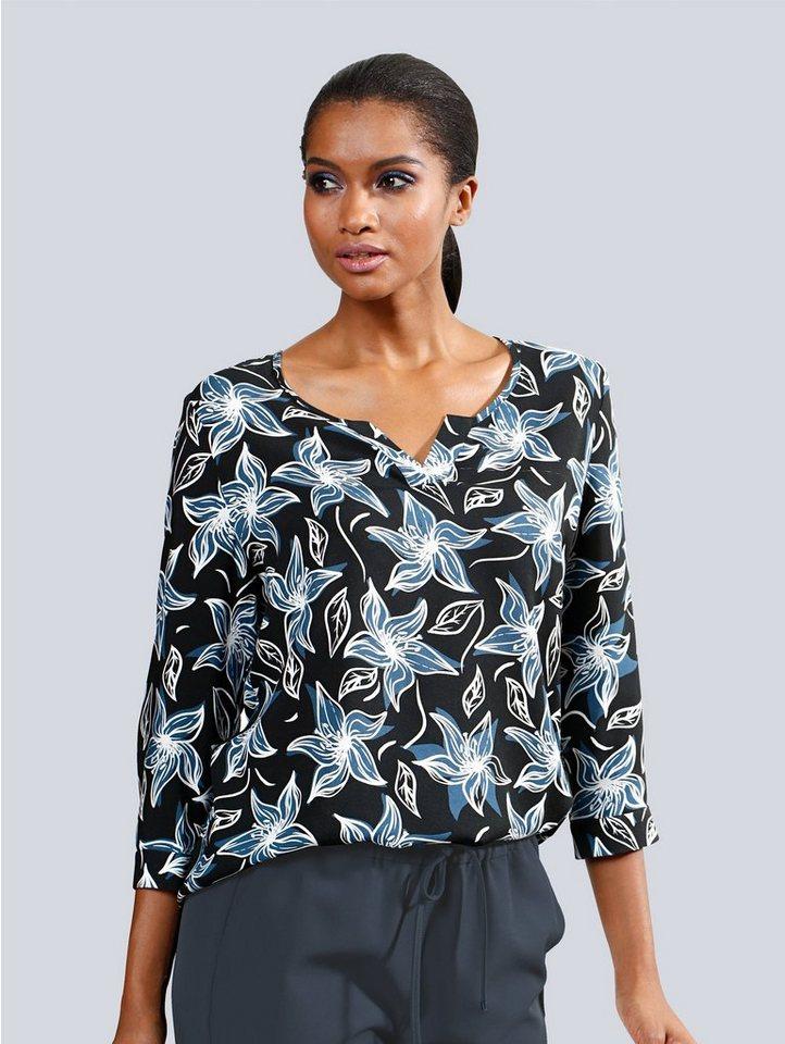 Alba Moda Bluse mit modischem Floral Print
