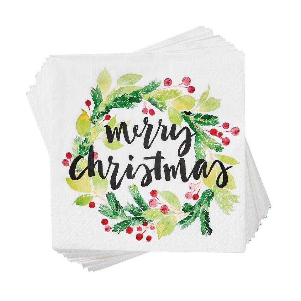 BUTLERS APRÈS  Papierserviette Merry Christmas