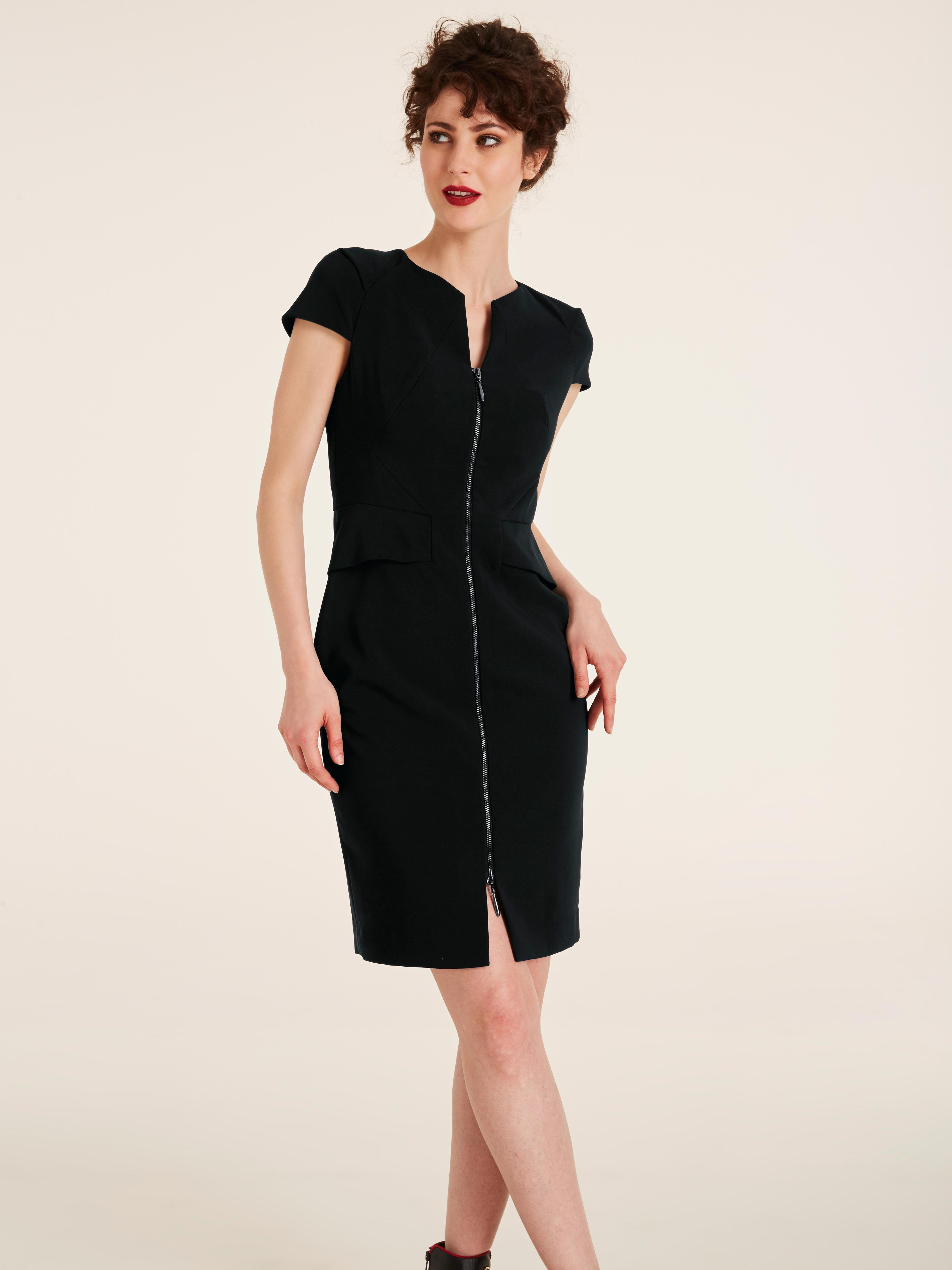heine TIMELESS Etuikleid mit ausknöpfbarem Shape-Unterkleid
