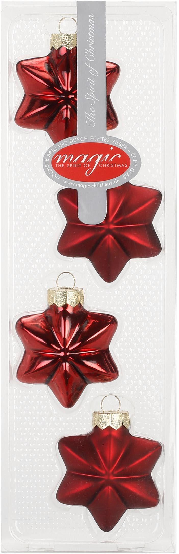 INGE-GLAS® Weihnachtsbaumkugel »Magic - Chianti« (8 Stück)