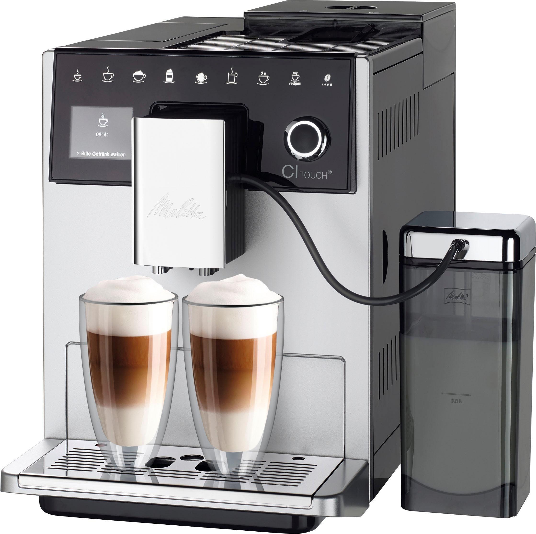 Melitta Kaffeevollautomat Melitta® CI Touch® F 630-101, silber/schwarz, Vielfältiger Kaffeegenuss durch insgesamt 10 Kaffeevariationen