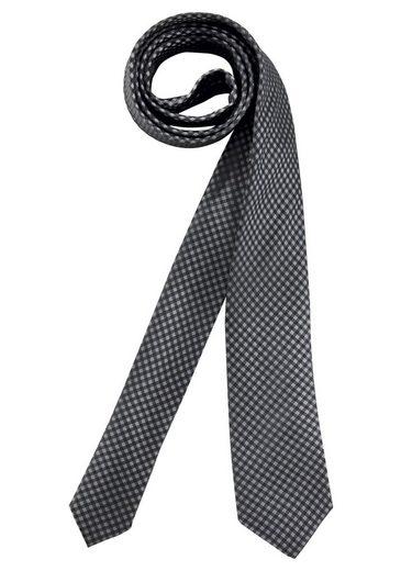 Class International Krawatte mit kleinem Karomuster