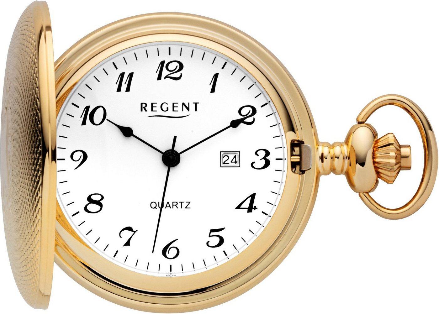Regent Taschenuhr »11370102« (Set, 2 tlg., inkl. Kette) | Uhren > Taschenuhren | Goldfarben | Regent