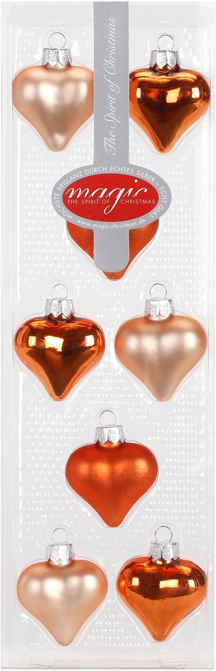 "INGE-GLAS® Christbaumschmuck »Herze ""Magic - Jolly Spirit""« (16-tlg)"