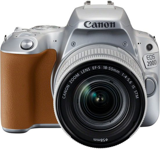 Canon »EOS 200D + EF-S 18-55mm 1:4-5,6 IS STM« Spiegelreflexkamera (EF-S 18-55mm 1:4-5,6 IS STM, 24,2 MP, NFC, WLAN (Wi-Fi), Bluetooth)