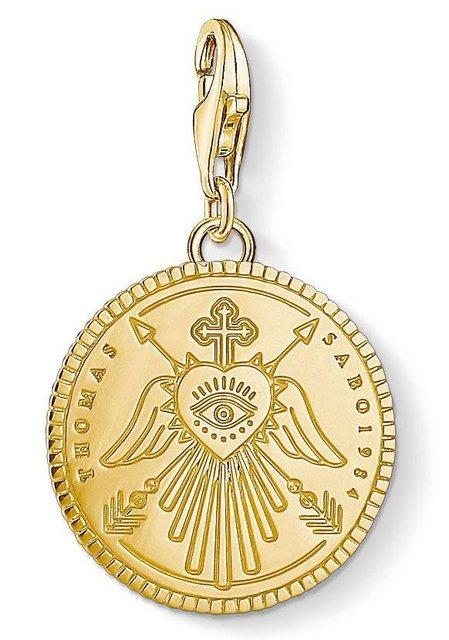 THOMAS SABO Charm-Einhänger »Coin gold, 1705-413-39« | Schmuck > Charms > Charms Anhänger | Thomas Sabo