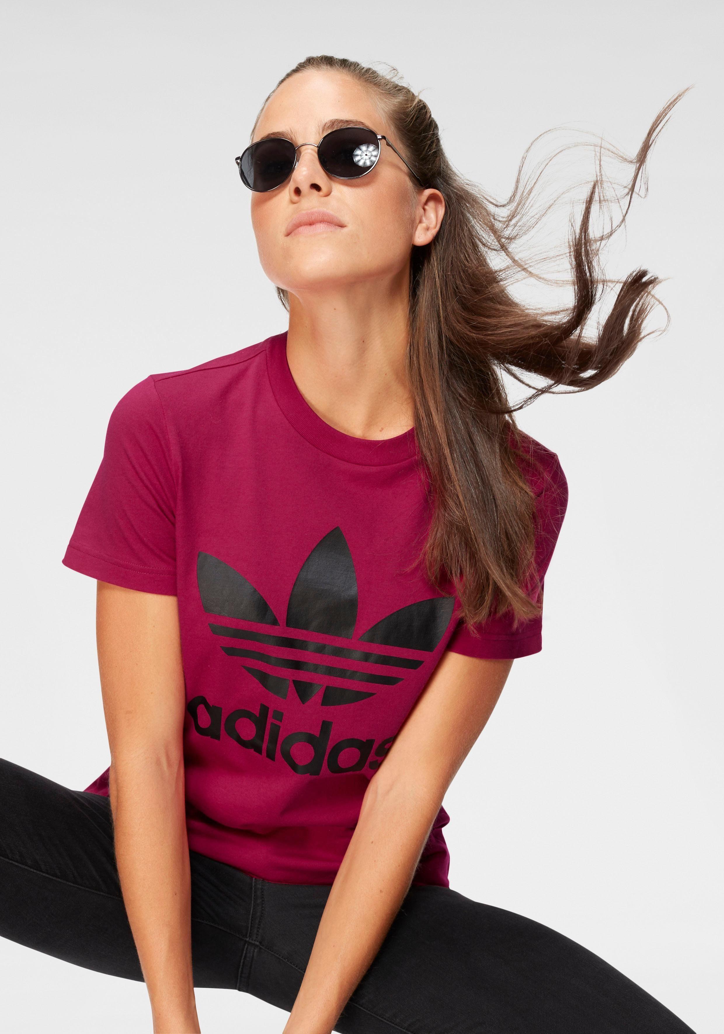 adidas Originals T Shirt »LEOFLAGE TREFOIL TEE« | OTTO